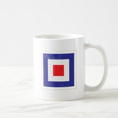 "Nautical Letter ""W"" Signal Flag Coffee Mug"