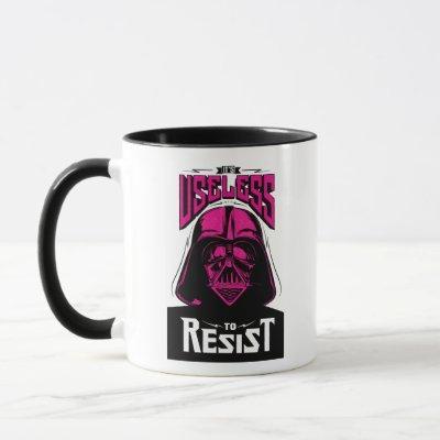 Neon Darth Vader: It Is Useless To Resist Mug