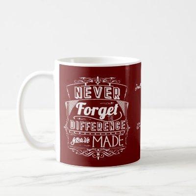 Never Forget Retirement Appreciation Coffee Mug