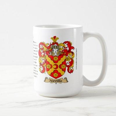 Neville, the Origin, the Meaning and the Crest Coffee Mug