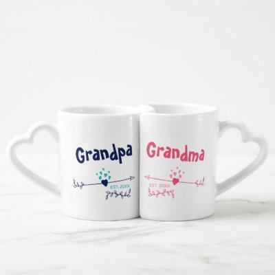 New Grandparents Personalized His and Hers Coffee Mug Set