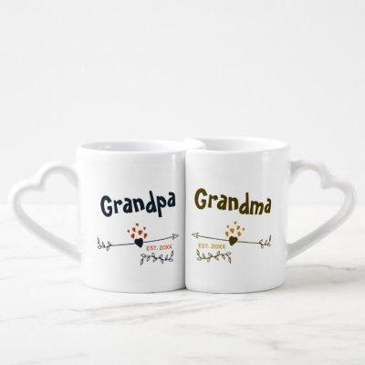 New Grandparents Personalized His & Hers Coffee Mug Set