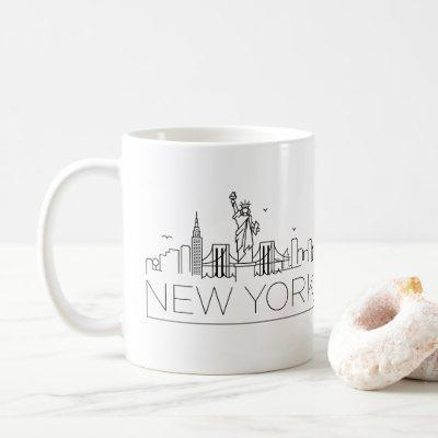 New York Stylized Skyline Coffee Mug