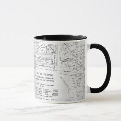 Newark New Jersey 1911 Ethnic Neighborhood Map Mug