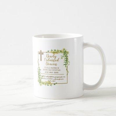Newly Ordained Deacon Gift Scripture Verse Custom Coffee Mug