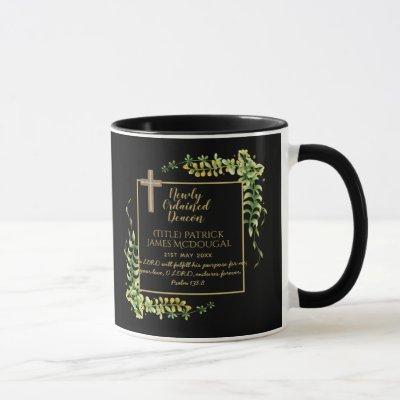 Newly Ordained Deacon Gift Scripture Verse Custom Mug