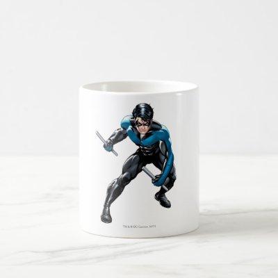 Nightwing with Weapons Coffee Mug