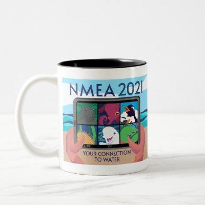 NMEA 2021 Logo - Full Two-Tone Coffee Mug