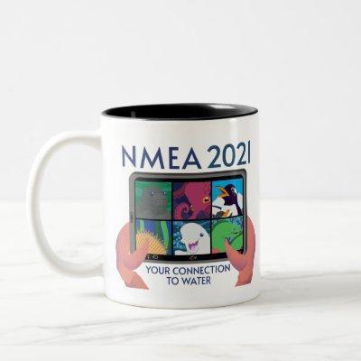 NMEA 2021 Logo - Transparent Fixed Two-Tone Coffee Mug