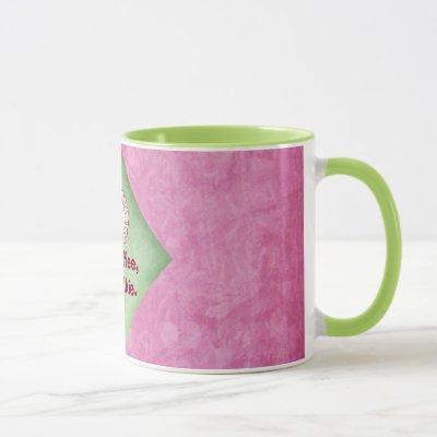 No Coffee No Talkie in Pink and Green Mug