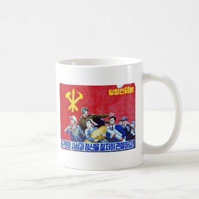 North Korean Communist Party Poster Coffee Mug