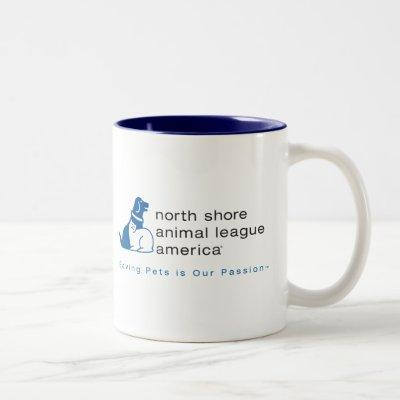 North Shore Animal League Branded Two-Tone Coffee Mug