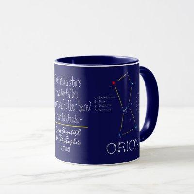 Northern Hemisphere Constellation Orion Mug