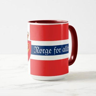 Norway, with coat of arms, Norge for alltid Mug