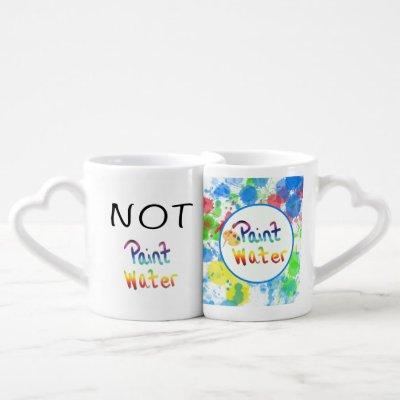 Not Paint Water Paint Water Artist Coffee Mug Set