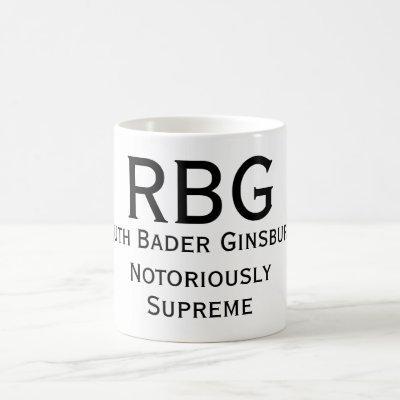 Notoriously Supreme RBG Mug