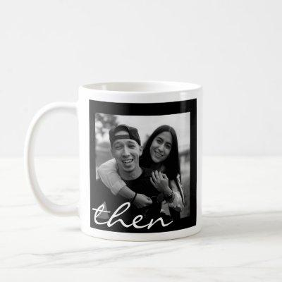 Now and Then Love Story Photo Coffee Mug