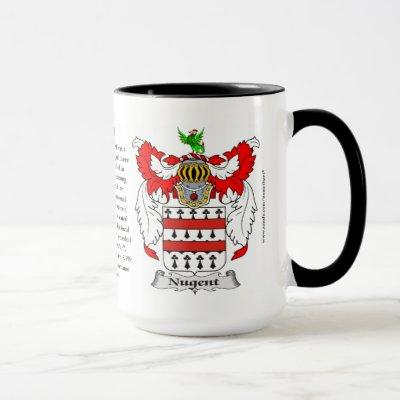 Nugent Family Coat of Arms Mug