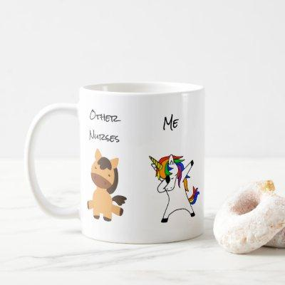 Nurse Funny Dabbing Unicorn Horse Coffee Mug