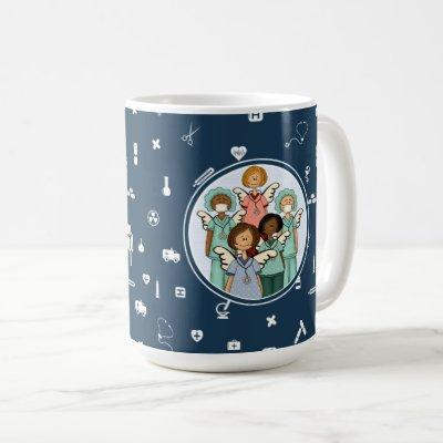 Nurses are real Angels on Earth. Gift Mugs