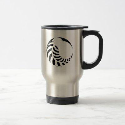 NZ Kiwi / Silver Fern Emblem Travel Mug