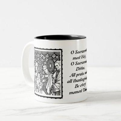 O Sacrament Most Holy Monstrance with Priests Two-Tone Coffee Mug