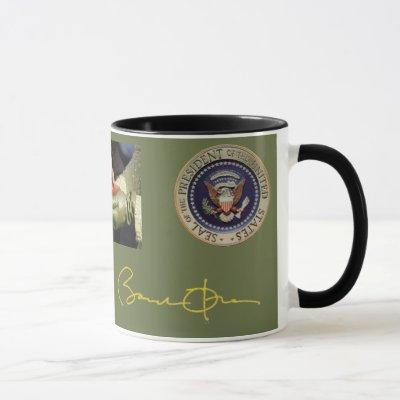 Obama Signature and Photo Mug