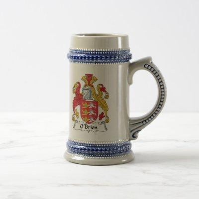 O'Brien Family Crest Beer Stein