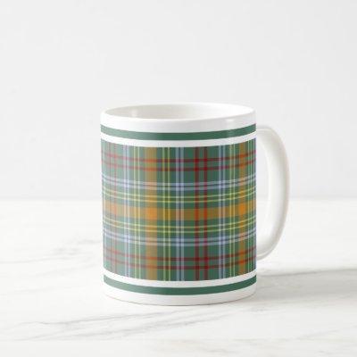 O'Brien Tartan Pattern Colorful Irish Plaid Coffee Mug