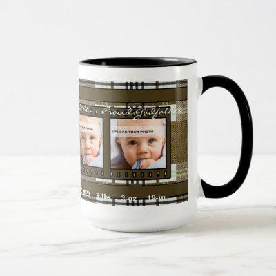 OBSOLETE Brown Plaid Proud Godfather 4 Photo Mug