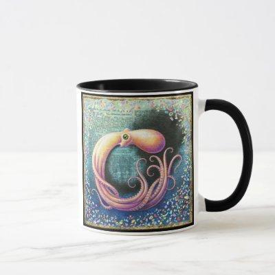 Octopus in Ocean Mug, Obfuscation Mug