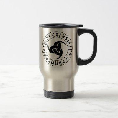 Odhroerir Rune Shield Travel Mug