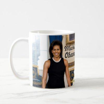 Official Portrait of First Lady Michelle Obama Mug