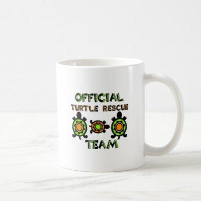Official Turtle Rescue Team 1 Coffee Mug