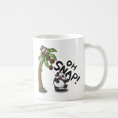 Oh Snap Panda & Monkey Coffee Mug