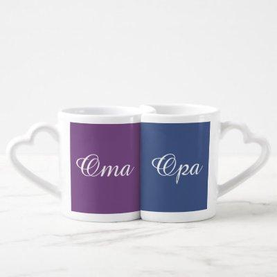 Oma and Opa's Coffee Mug Set