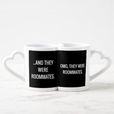 OMG They Were Roommates Black & White Mug Set