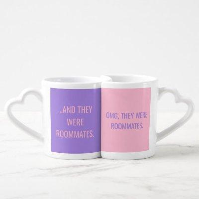 OMG They Were Roommates Pink & Purple Mug Set
