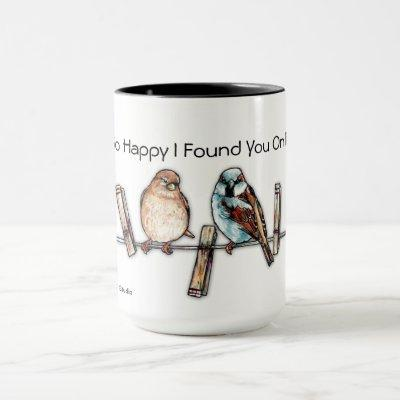 Online Dating Sweetheart Sparrows Coffee Mug