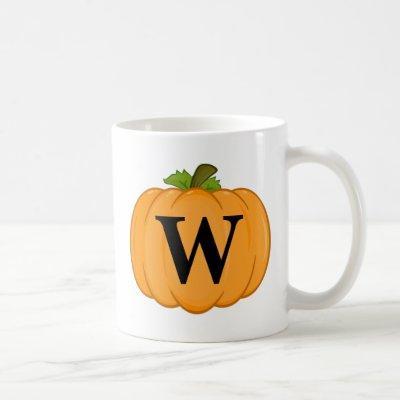 Orange Pumpkin Monogram Coffee Mug