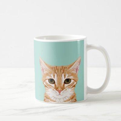 Orange Tabby Cat Mug - Cute Cat Lady Gift