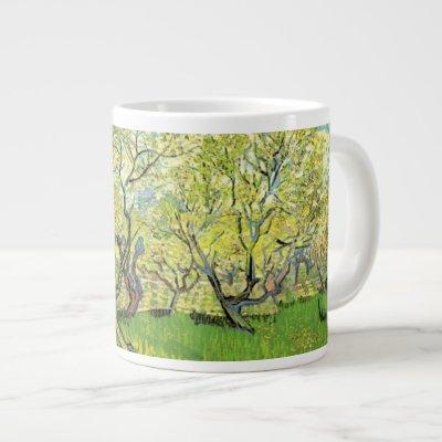 Orchard in Blossom by Vincent van Gogh. Giant Coffee Mug