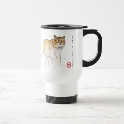 Original Drawing Chinese Tiger Year Birthday TM1 Travel Mug