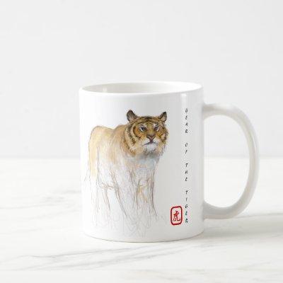 Original Drawing Chinese Tiger Year Birthday WCM1 Coffee Mug