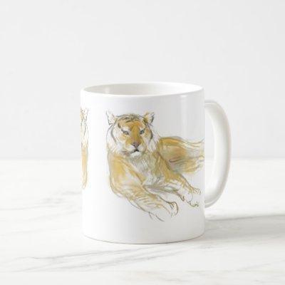 Original Drawing Chinese Tiger Year Birthday WCM2 Coffee Mug