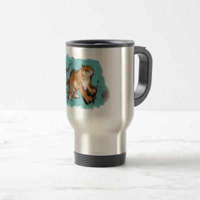 Original painting Chinese Tiger Year Birthday TM Travel Mug