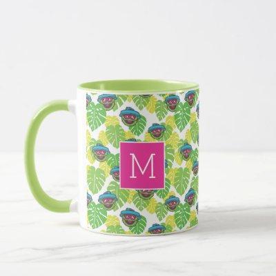 Oscar the Grouch   Tropical Pattern Mug