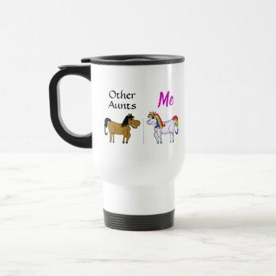 Other Aunts Me Unicorn Travel Mug