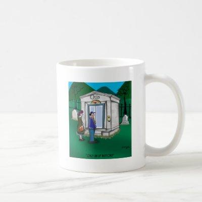 Otis Elevator Mausoleum Only has an Up Button Coffee Mug