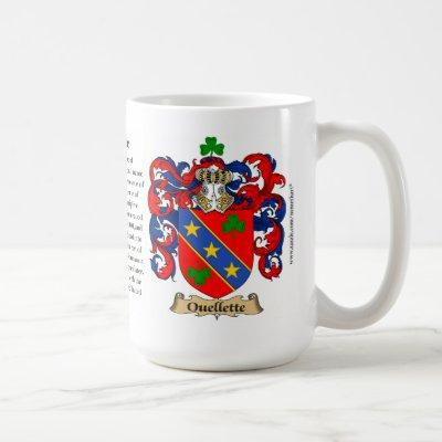 Ouellette Family Coat of Arms Coffee Mug